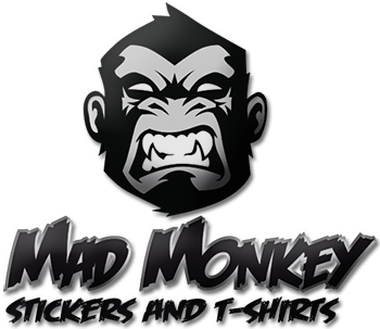 Mad Monkey Logo kart and Motocross stickers